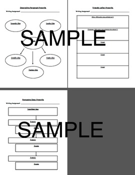 Graphic Organizers for Paragraph Writing- 10 Different Prewrite Organizers!