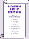 Graphic Organizers for Paragraph Writing- 10 Different Pre
