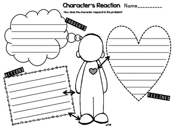 Graphic Organizers for Problem and Solution and Character's Response