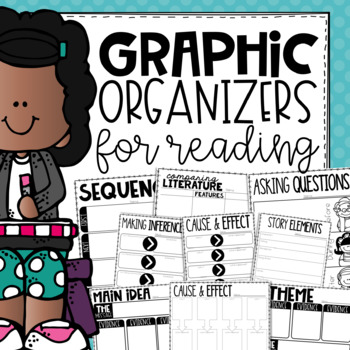 Graphic Organizers for Reading Comprehension Skills {Printable & Digital}