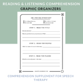 Graphic Organizers for Reading and Listening Comprehension   Speech Therapy