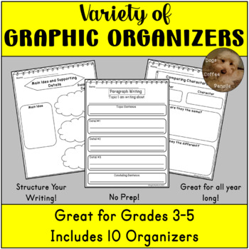 Reading and Writing Graphic Organizers - Upper Elementary