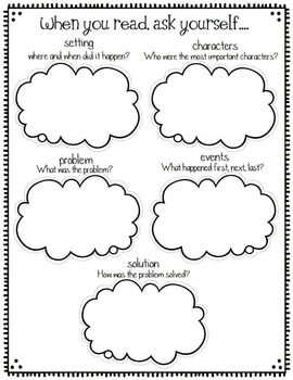 Graphic Organizers for Story Elements, Reading Comprehension, and more
