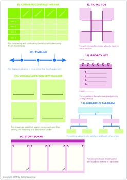 Graphic Organizers for Students
