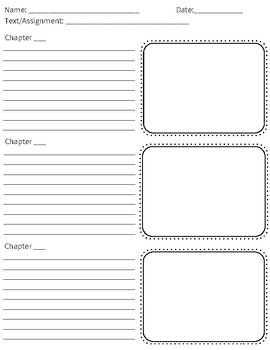Graphic Organizers for Summarizing Chapters/Texts
