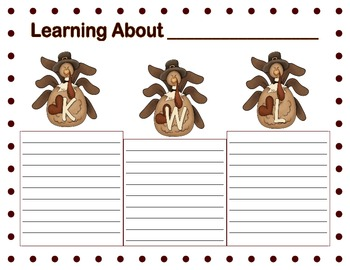 Graphic Organizers for Thanksgiving