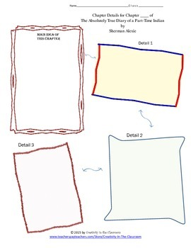 Graphic Organizers for The Absolutely True Diary of a Part-time Indian