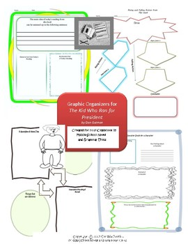 Graphic Organizers for The Kid Who Ran for President