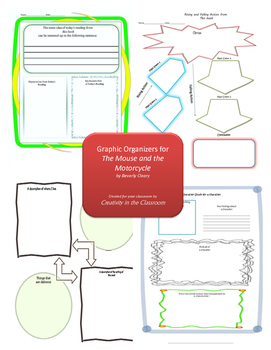 Graphic Organizers for The Mouse and the Motorcycle