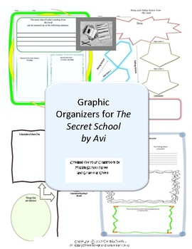 Graphic Organizers for The Secret School by Avi