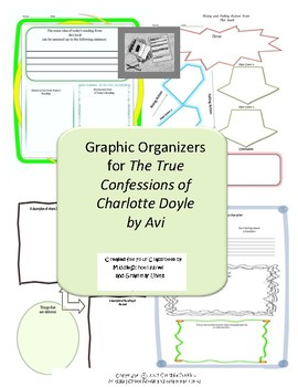 Graphic Organizers for The True Confessions of Charlotte Doyle by Avi