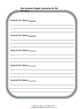 Graphic Organizers for The Wanderer