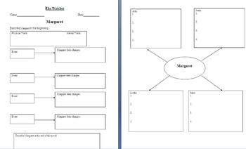 Graphic Organizers for The Watcher by James Howe (Characters)