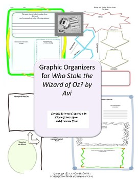 Graphic Organizers for Who Stole the Wizard of Oz by Avi