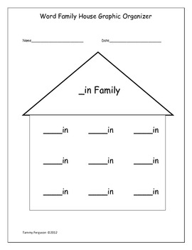 Graphic Organizers for Word Family Activities