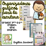 Graphic Organizers for Writing Charts Organizadores gráficos para escritura