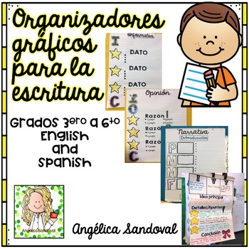 Graphic Organizers for Writing Charts Organizadores gráficos para escritura