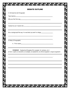 Graphic Organizers for Writing, Speech, and Debate
