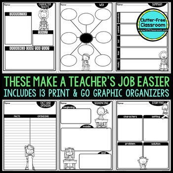 Graphic Organizers for Writing | Writing Graphic Organizers | Writing Process
