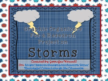 Graphic Organizers for a Research Project on Storms