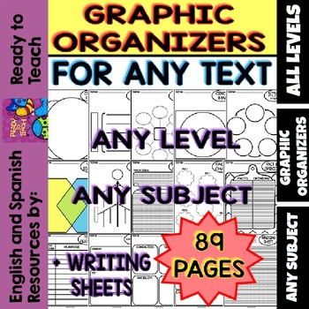 Back to School -Graphic Organizers for any Text, Level and/or Subject (89 pages)