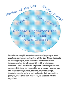 Graphic Organizers for writing and math
