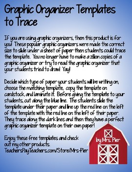 Graphic Organizers to Trace