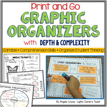Graphic Organizers w/Depth & Complexity Icons - EDITABLE!