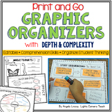 Distance Learning Graphic Organizers w/Depth & Complexity Icons - EDITABLE!