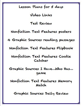 Graphic Sources - Nonfiction Text Features - Skill Review Lessons and resources