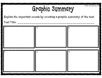 Graphic Summary Organizer for Reading Comprehension