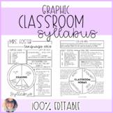 Graphic Syllabus Template EDITABLE