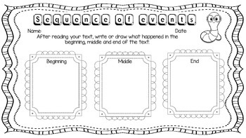 Graphic organisers and book responses pack