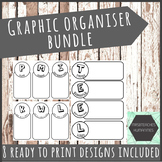 Graphic organisers bundle - 8 template designs