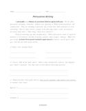 Graphic organizer: Persuasive writing