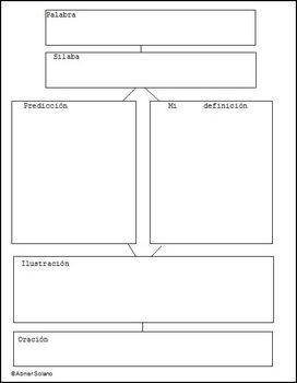 graphic organizer vocabulary builder in spanish espanol by señor solano