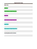 Graphic organizer argumentative essay