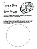 Graphic organizer book report - Slice of pie