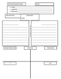 Graphic organizer for multiparagraph compositions