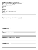Graphic organizer for writing prompt