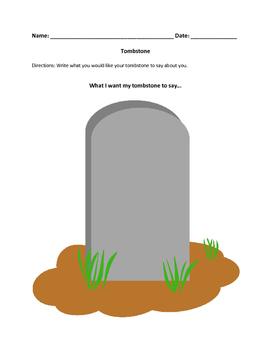 Graphic organizer - tombstone