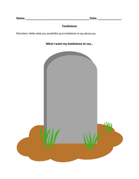 Graphic organizer - tombstone