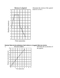 Graphical Analysis Physics (position vs time, velocity vs time)