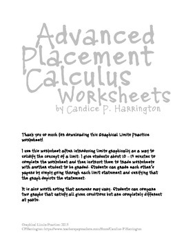 Graphical Limits Practice Worksheet