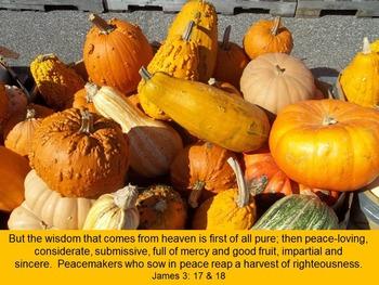 Graphics: Autumn themed scripture photos, no copyright