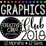 Graphics Club 2018 Bundle {Creative Clips Clipart}