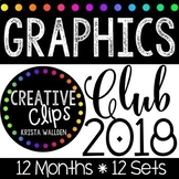 Graphics Club 2018 {Creative Clips Clipart}