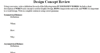 Graphic Design Concept Review