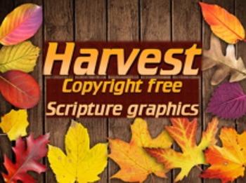 Graphics: Harvest themed scripture photos, no copyright