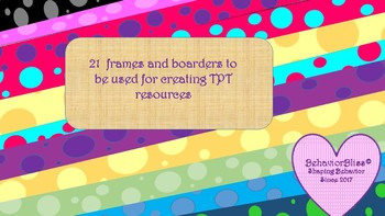 Graphics-Polka Dot Frames and Borders for your TPT products!